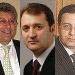 Ghimpu, Filat și Lupu - rivali pentru postul de președinte al Republicii Moldova