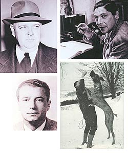 Din colțul de stânga sus în sensul acelor de ceasornic: Whittaker Chambers, Arthur Koestler, Jan Valtin, Viktor Kravcenko (sursa: johnvfleming.com)