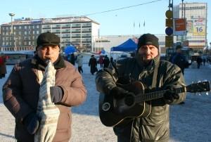 Cântăreti stradali la Turku, Finlanda
