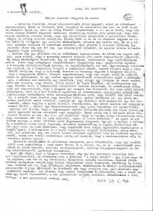 Prima pagină a discursului în limba maghiară