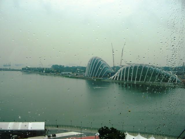 Deasupra orasului Singapore Imagine panoramica din Singapore Flyer