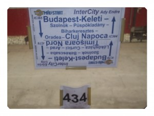 Vagonul 434, trenul international 365, Cluj-Napoca - Budapest Keleti şi retur