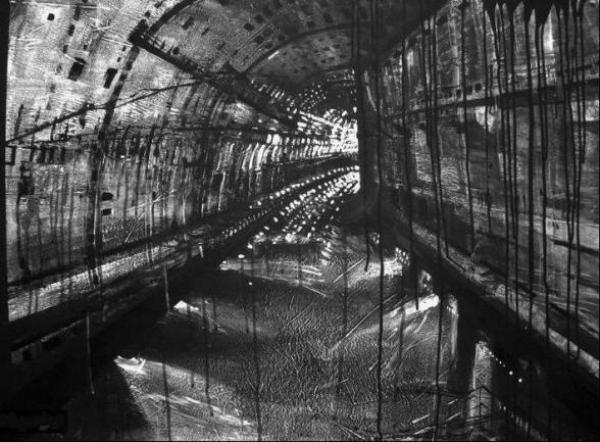 Caves of technoneolitic - pictură de Aljona Shapovalova