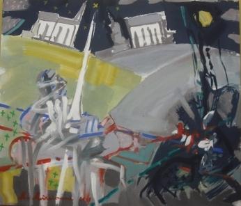 Înfruntarea - pictură de Matei Mircioane