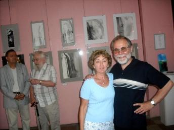 Palotai Erzsebet şi Subicz Istvan (in dreapta) la vernisaj