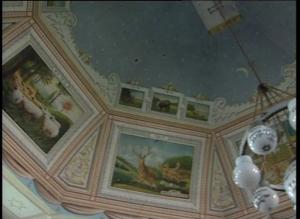 Sinagoga din Hârlău - fresce de pe tavan