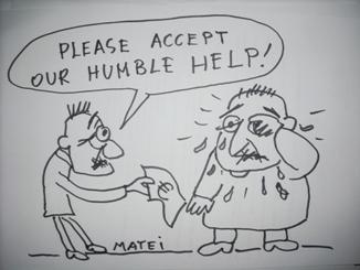 Please accept our humble help - desen de Matei Mircioane
