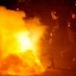 Proteste violente la Bucuresti - sursa foto. bzi.ro