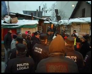 17 decembrie 2010 - acţiunea de evacuare în forţă a romilor de pe strada Coastei din Cluj