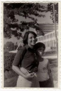 Tania cu fratele ei 1979