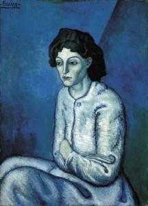 Pablo Picasso: Femeie şezând cu braţele încrucişate