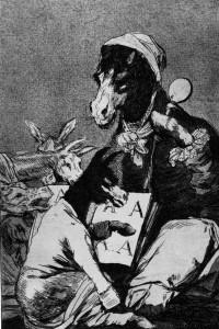 Goya, gravura din ciclul Capricii