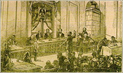 Gravură: Procesul de la Tiszaeszlár
