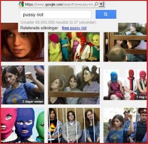 Pussy Riot pe Google - 91 milioane de imagini
