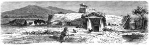 Bordei românesc din 1860 (Wikipedia.ro) - inspiratie pentru Sfrijenii-Vlasiei