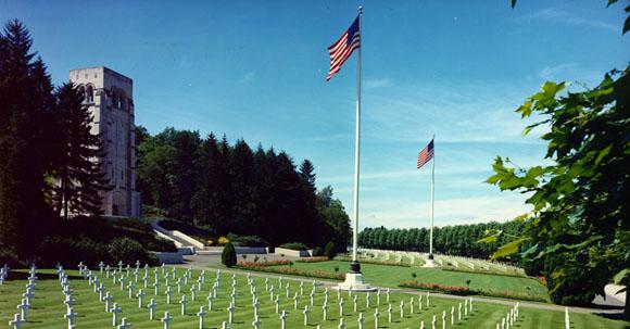 Cimitirul american de la Aisne-Marne, Franta...2289 de soldati americani au murit