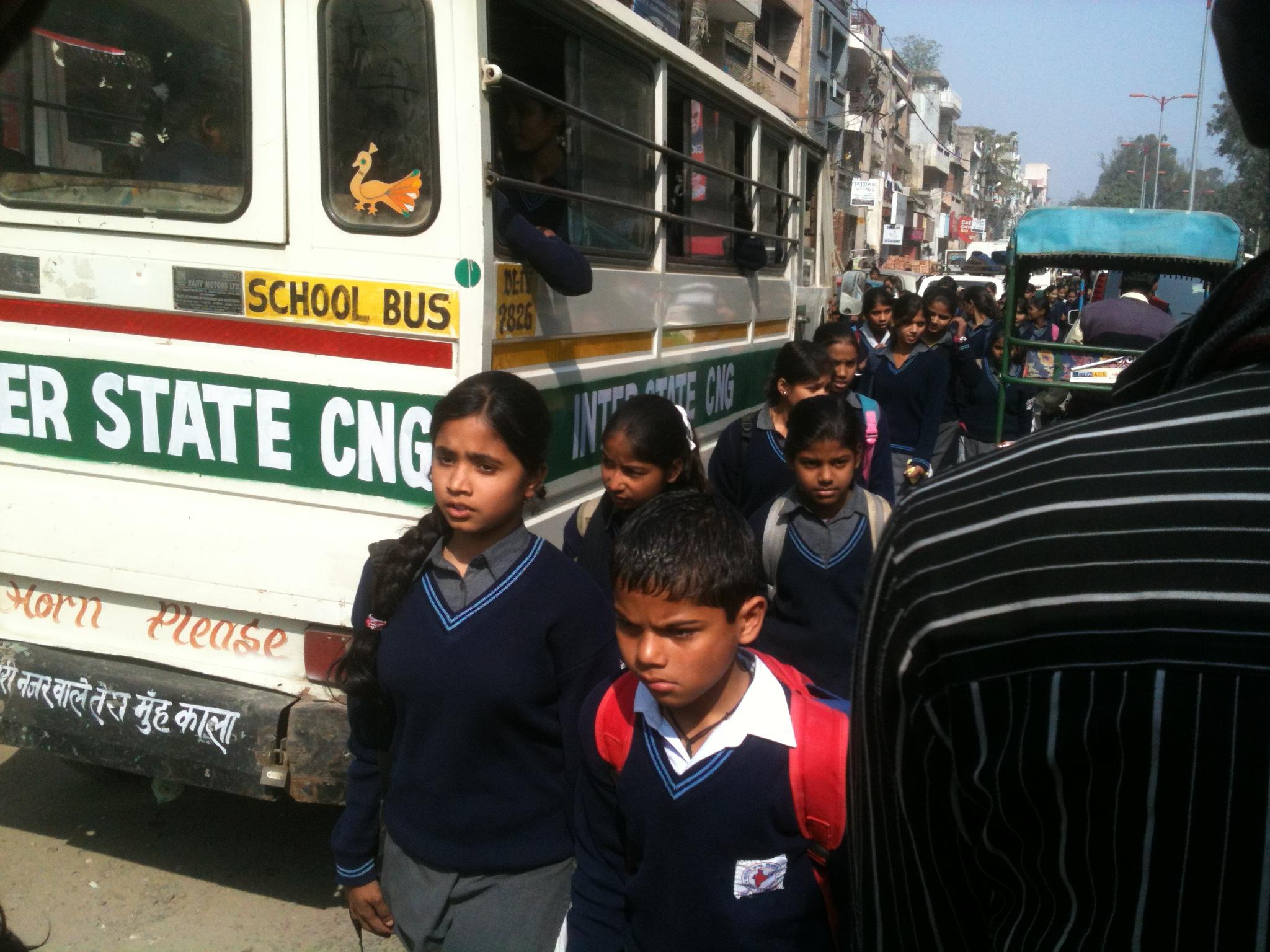 Strada in Delhi la o ora de varf