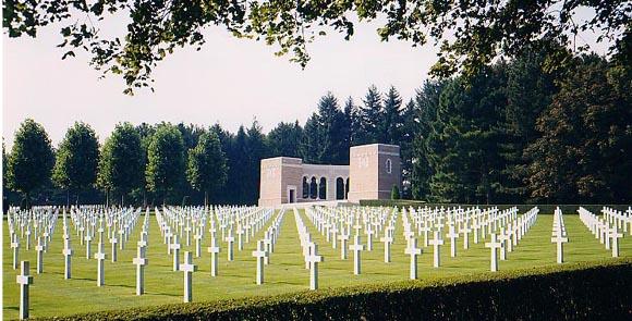 Cimitirul american din Oise-Aisne, Franta...6012 soldati americani care si-au pierdut viata