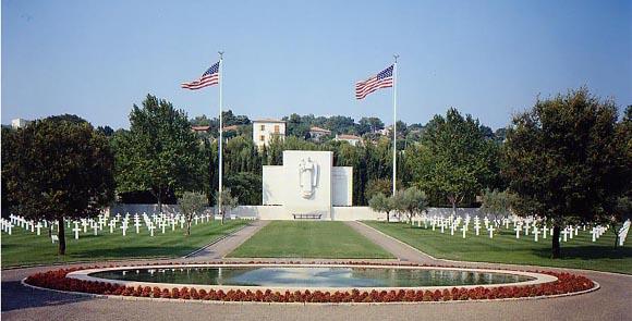 Cimitirul american din Rhone, Franta... 861 de soldati americani cazuti