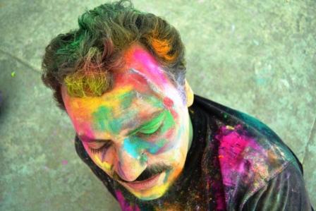 festivalul culorilor Delhi martie 2011