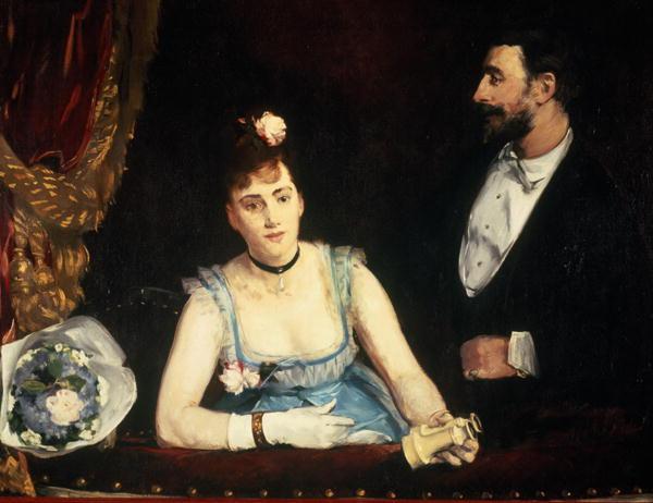Eva Gonzales, O lojă la teatrul italian
