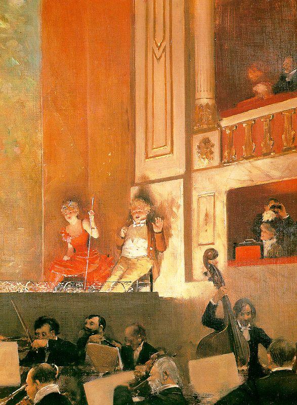 Jean Béraud, Reprezentaţie la Teatrul de varietăţi