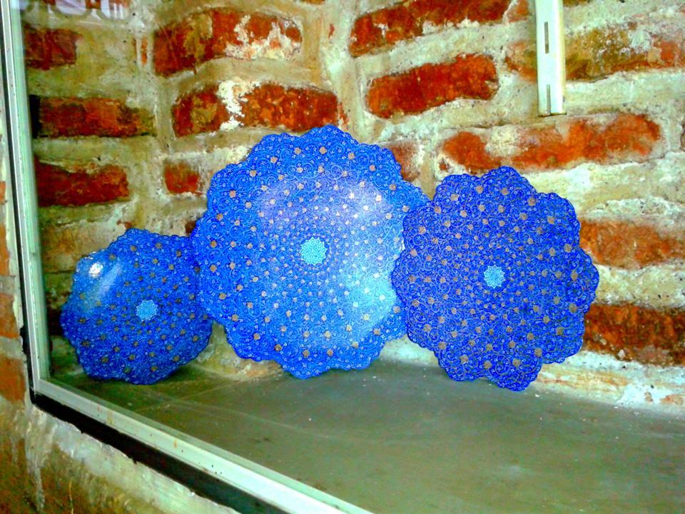 Expozitie de ceramica persana la Moscheea Albastra