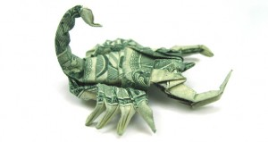 one dollar scorpion